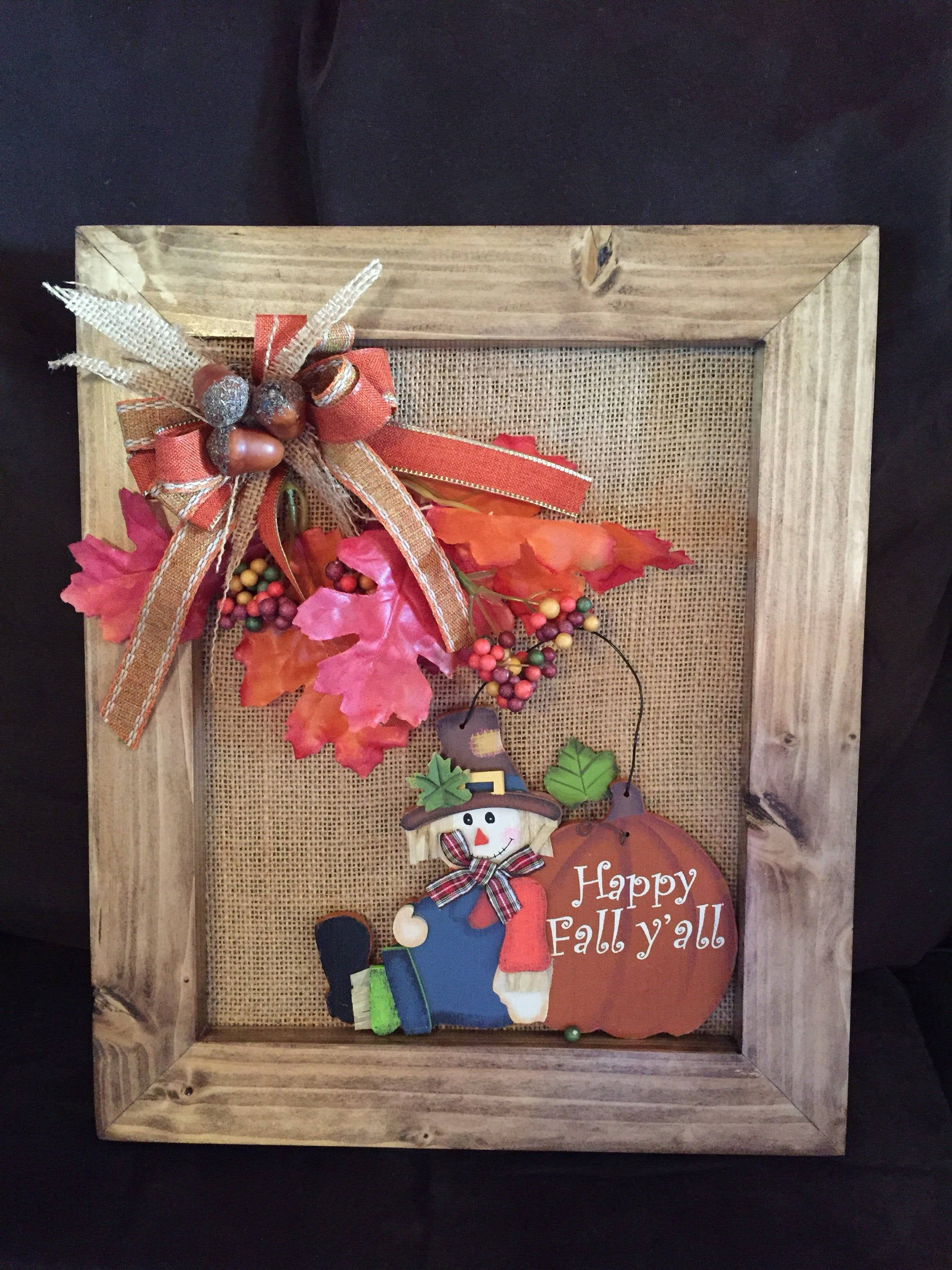 Rustic Fall Decor By Kchattscraftings On Etsy Rustic Fall Decor Fall Decor Wedding Picture Frames