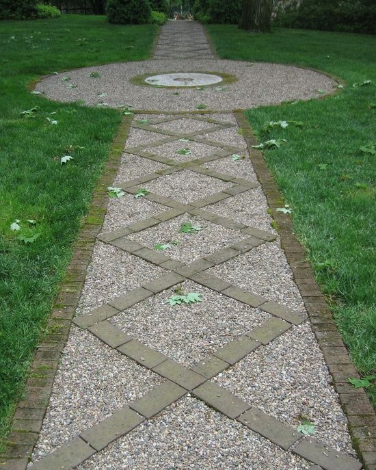 Cheap Sidewalk Ideas: Using Brick And Gravel For Driveway. Tip From A Website