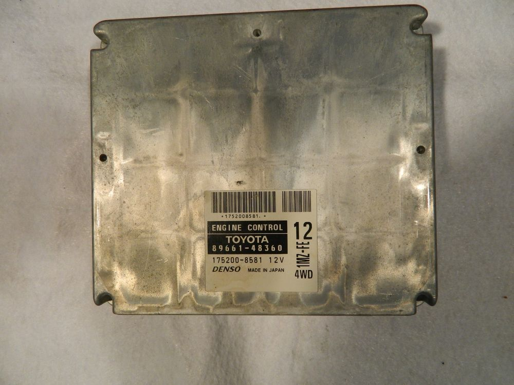 2002 Toyota Highlander 6cyl 89661 48360 Engine Control Module Ecu Ecm Toyotadenso Wall Lights Decor Home Decor