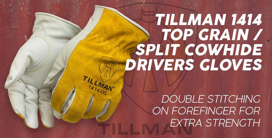 Large Steiner 02139-L Welding Gloves Brown Split Cowhide Aluminized Mylar Inner Layer