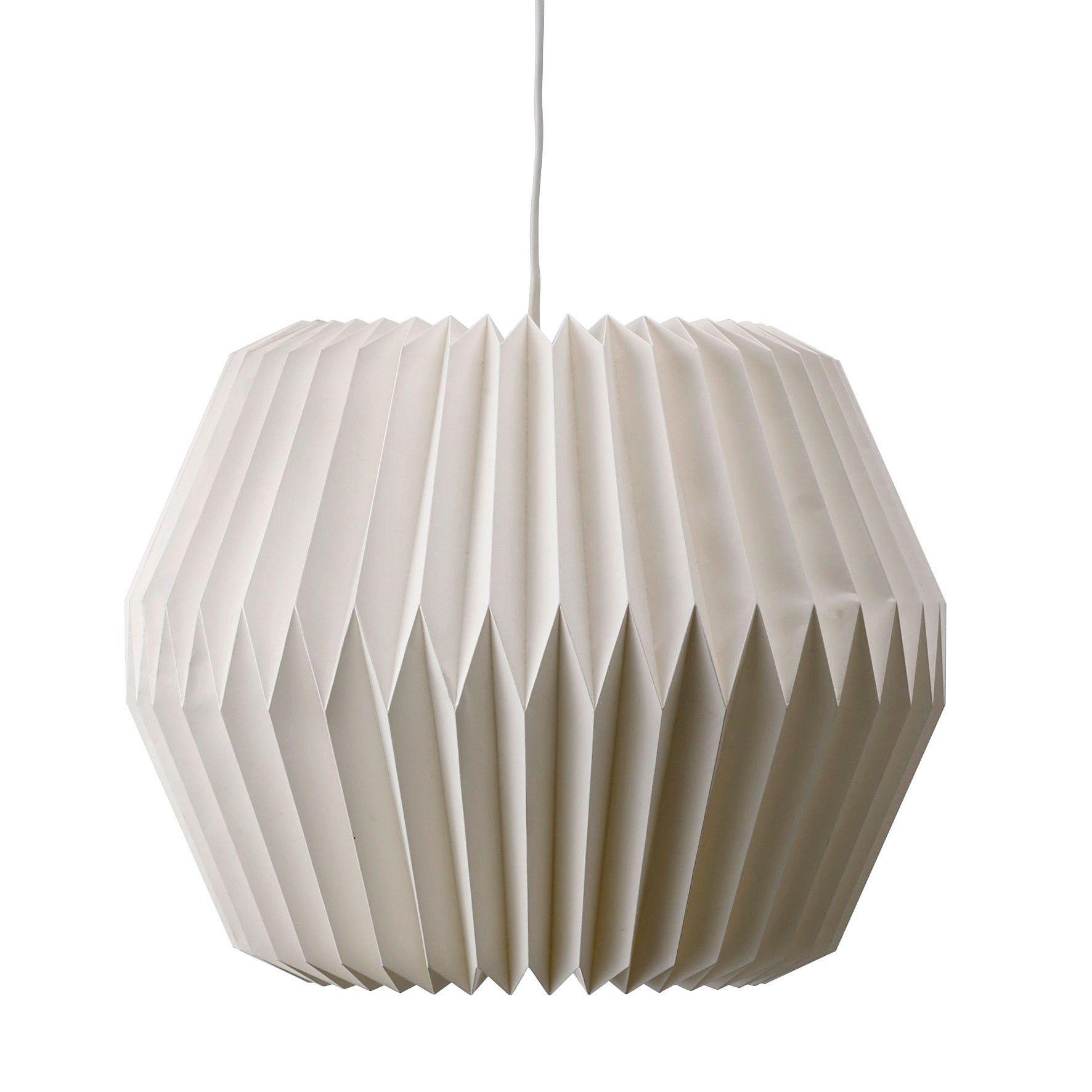 Bloomingville Lampe White Paper 1 Papierlampen Lampe Weiss Papierlampenschirm