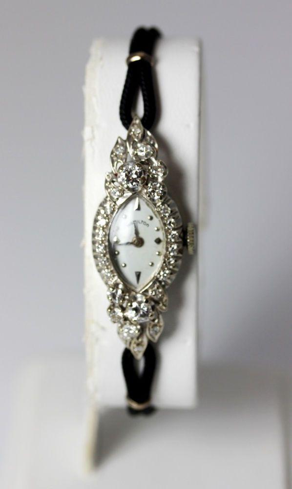 Beautiful Vintage 14K White Gold  88ctw Diamond Hamilton