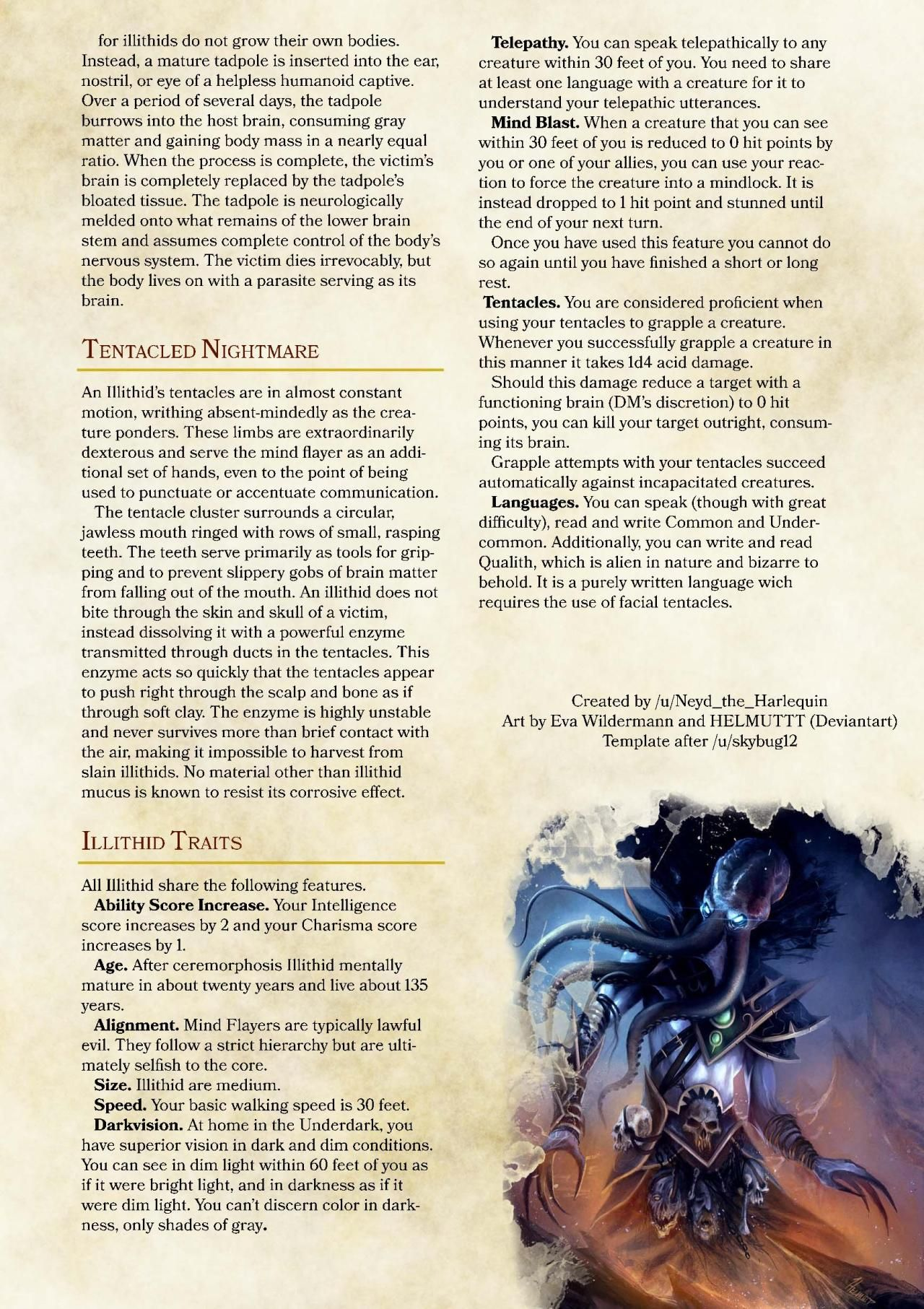 DnD 5e Homebrew — Illithid Race by Neyd the Harlequin
