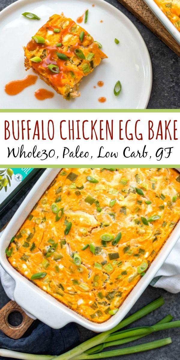 Buffalo Chicken Egg Bake: Whole30, Paleo, Keto, GF - Whole Kitchen Sink