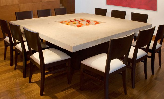 Large Square Dining Room Table (terres Mexico)