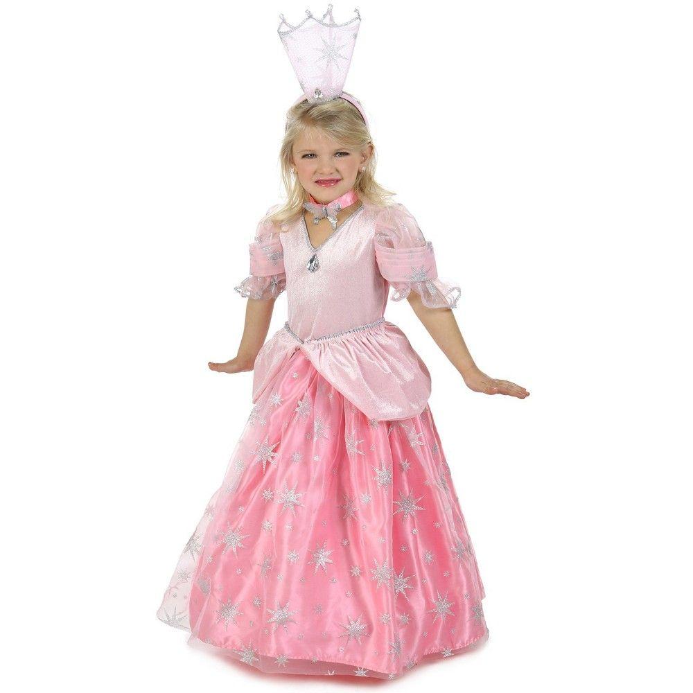 Costume Girls White Fairy Queen Fancy Dress Princess Glinda Godmother Play