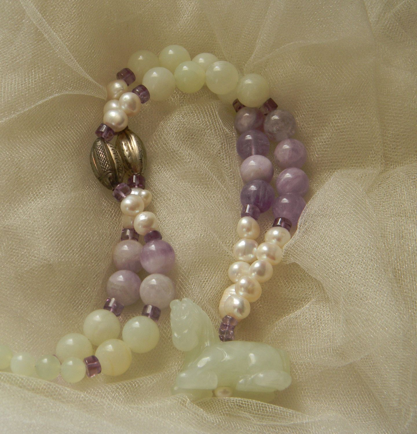 Jade horse w pearls amethyst beads necklace beaded jewelry jade horse w pearls amethyst beads necklace beaded jewelry fresh water pearls aloadofball Images