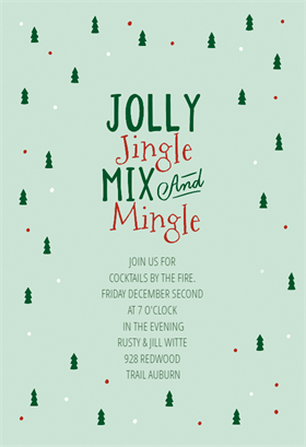 Gifted Free Printable Christmas Invitation Template Greetings