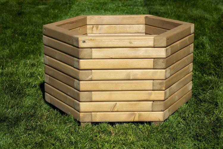 70cm Hexagon Wooden Planter For Sale In Greetham None International Preloved Second Hand Garden Furniture Planters For Sale Wooden Planters