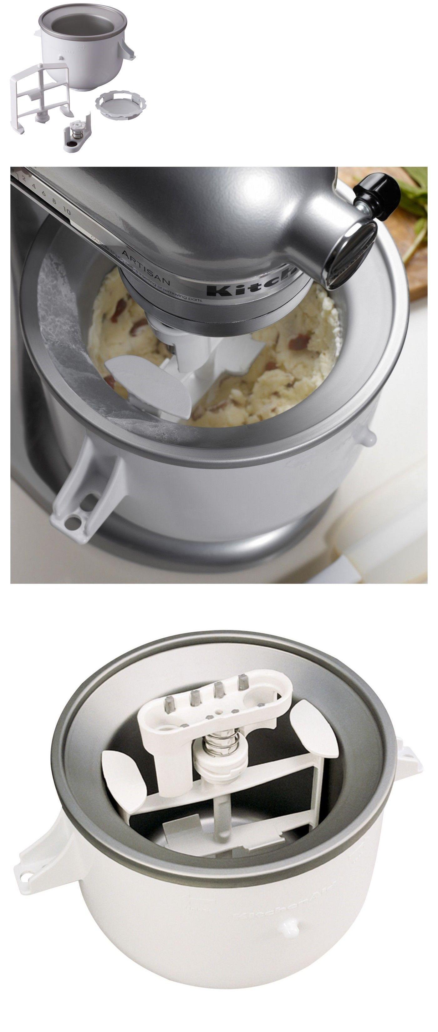 Ice Cream Makers 20676 Kitchenaid Kica 0wh Stand Mixer Ice Cream