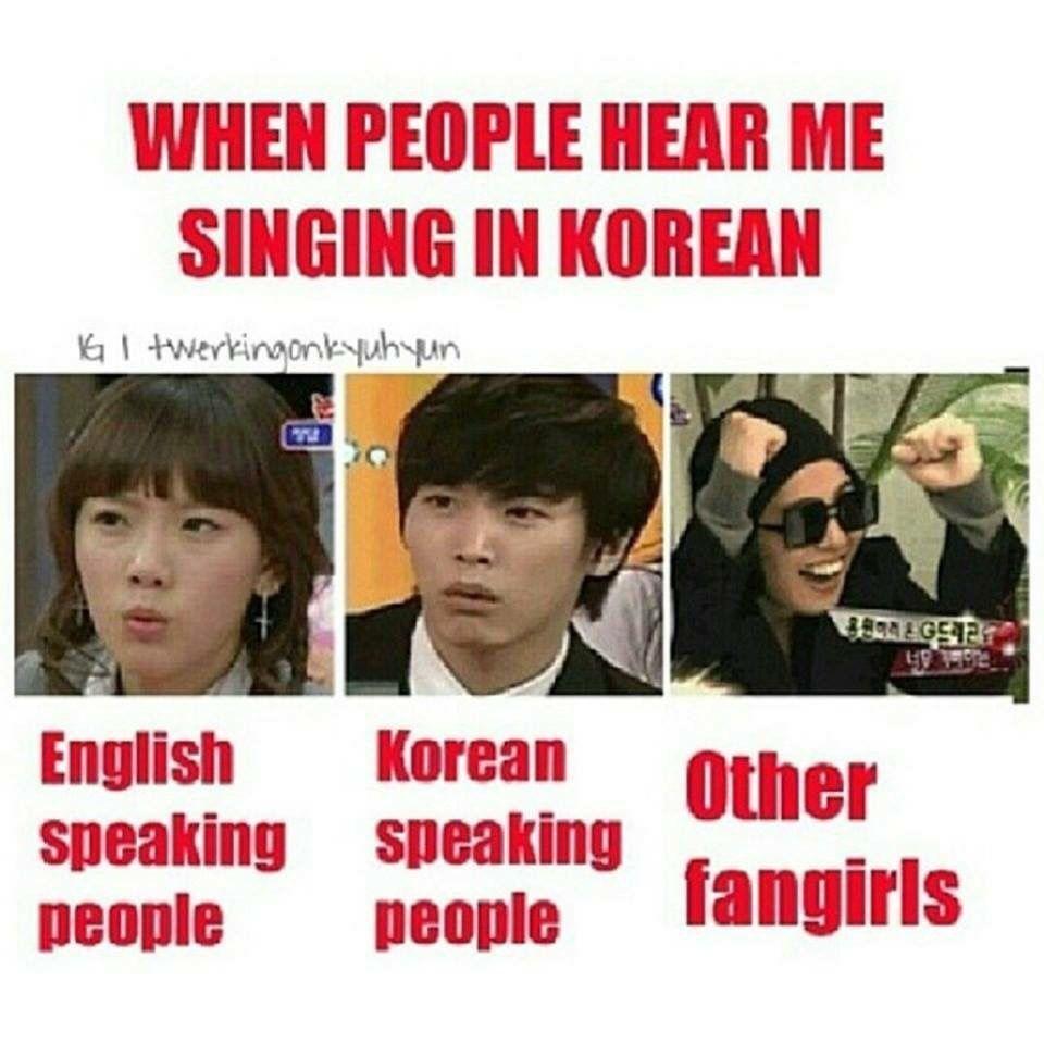 ( Stares in Korean ) |Sighs Korean Meme