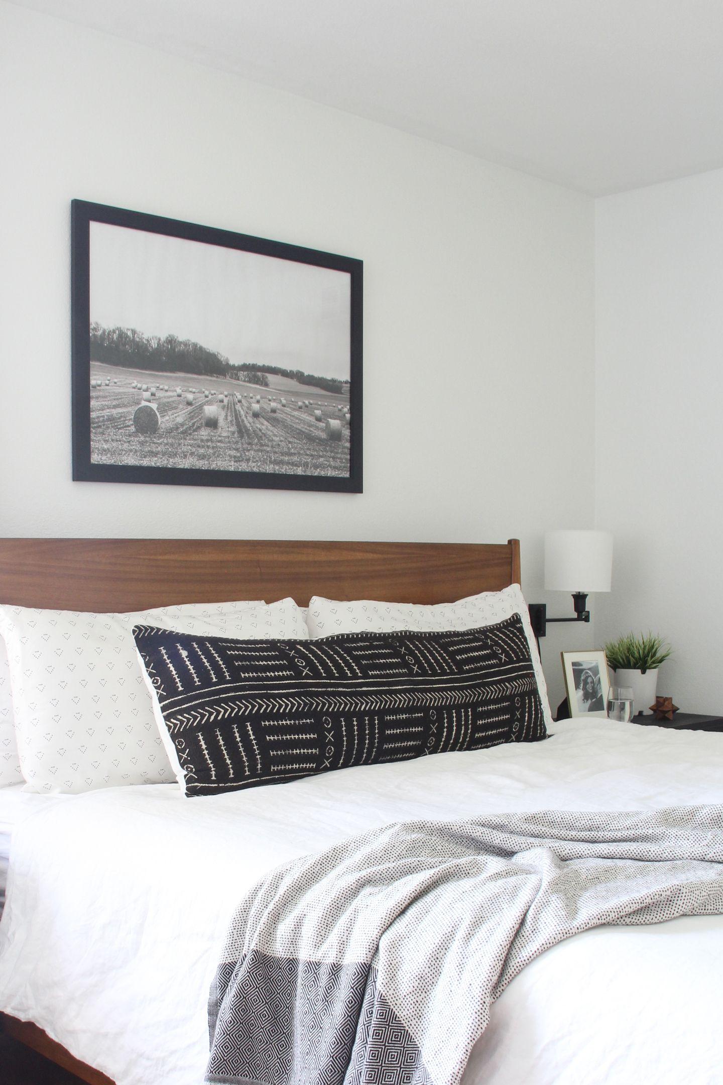 Master bedroom art above bed  Master Bedroom Reveal One Room Challenge  Week   Bedroom
