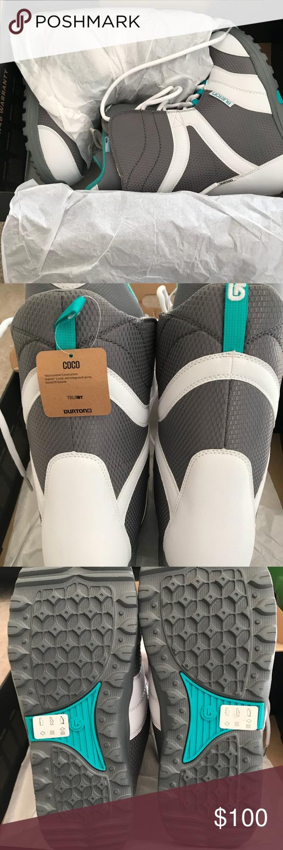 Burton Coco Snowboard Boots Burton Brand Coco Style White