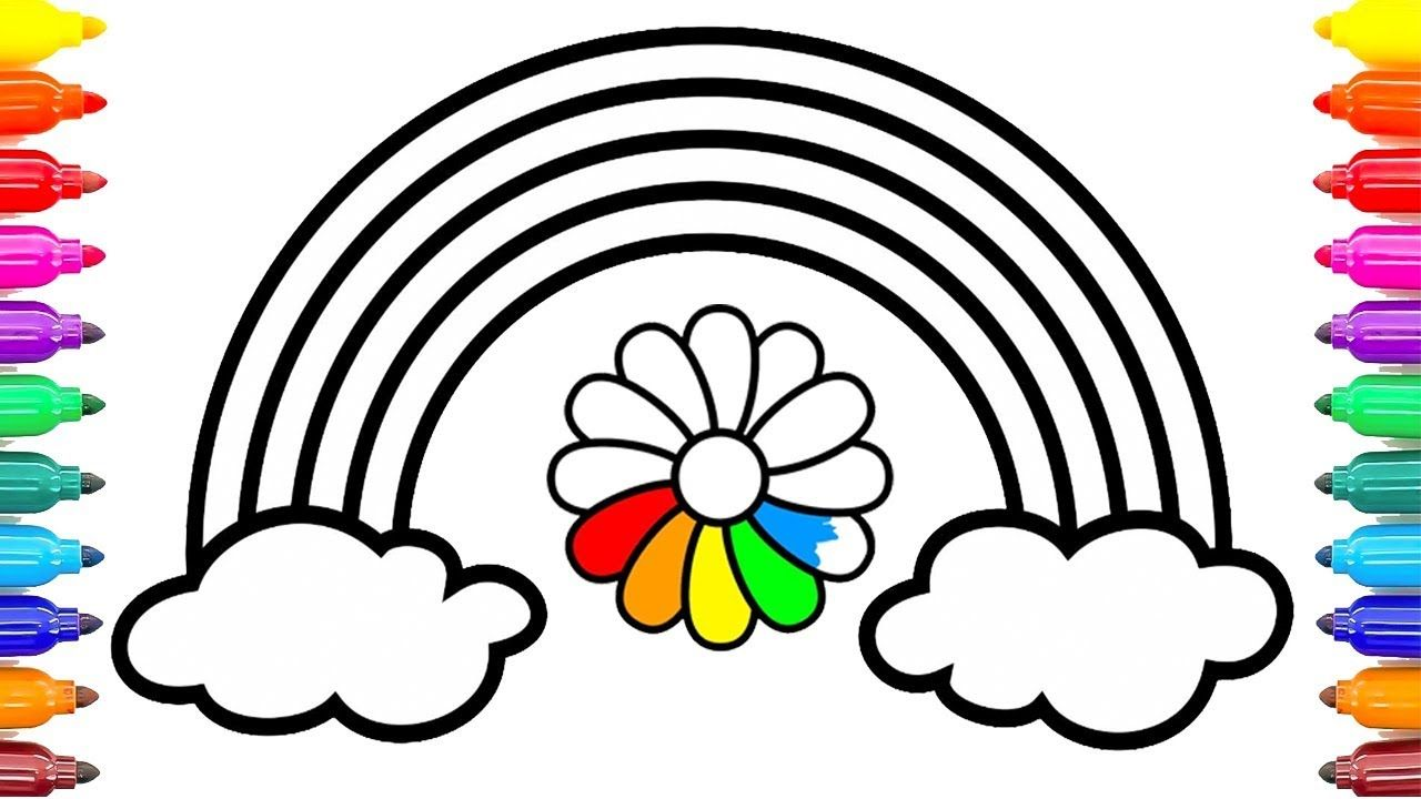 How To Draw Rainbow Flowers Rainbow Flowers Coloring Pages Learn Colors Kids Coloringpai Unicorn Coloring Pages Fairy Coloring Pages Butterfly Coloring Page [ 720 x 1280 Pixel ]