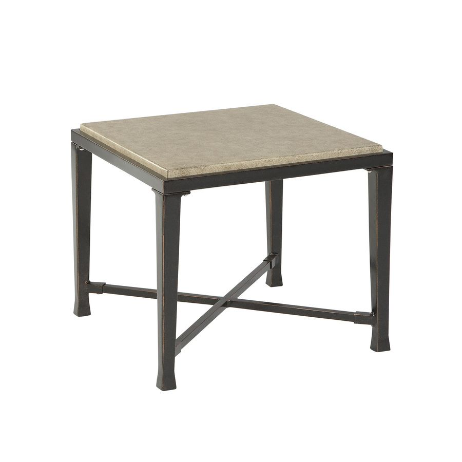 shop allen roth pardini square end table at lowescom - Lowes End Tables