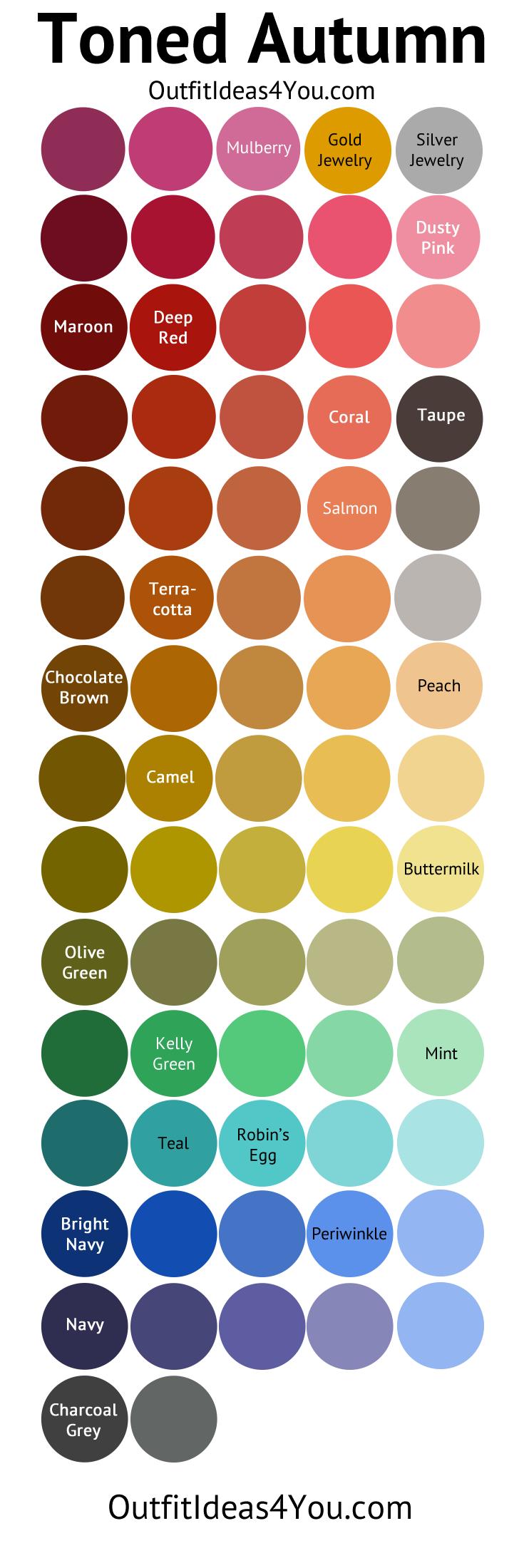 Toned Autumn Color Palette (Soft Autumn)