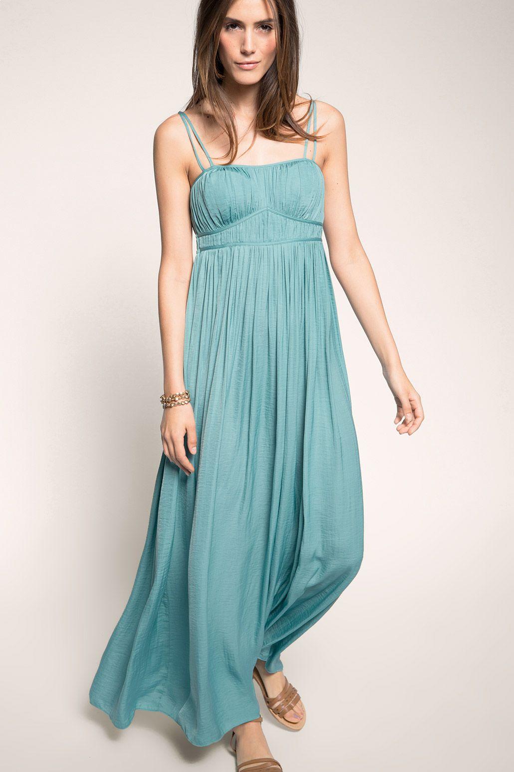 Esprit - Maxi-Kleid im Empire-Look im Online Shop kaufen | wear it ...