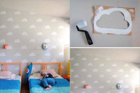 Manualidades para ni os est ncil de nube nursery pinterest ni os cuarto de bebe y cuartos - Manualidades para decorar habitacion bebe ...