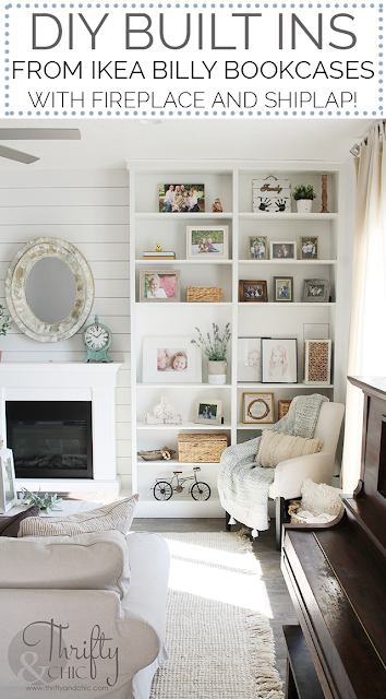 Diy Built In Bookshelves From Ikea Billy Bookcases With Fireplace