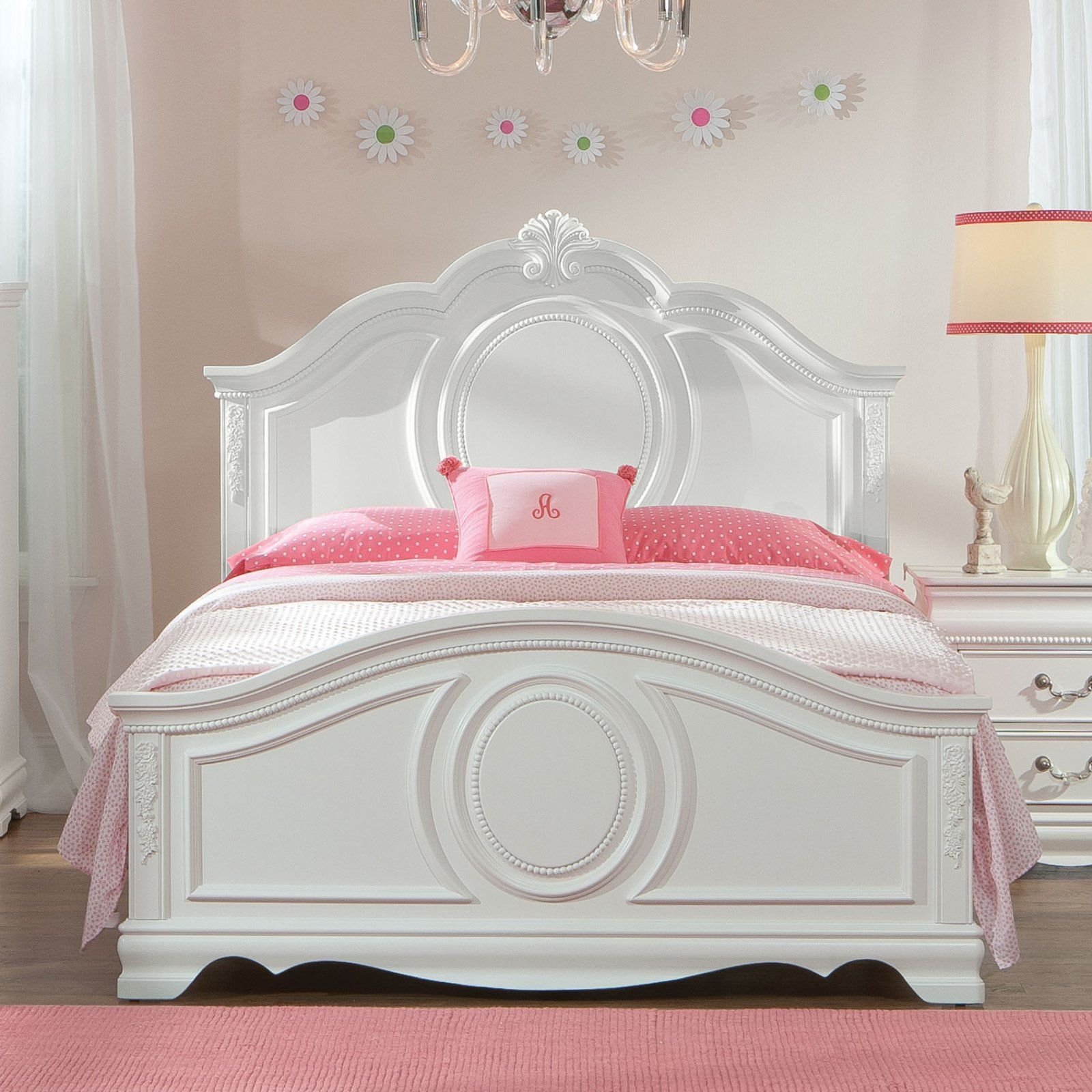 Standard Furniture Jessica Panel Bed White Size Twin Girls Bedroom Sets Bedroom Sets Queen Standard Furniture