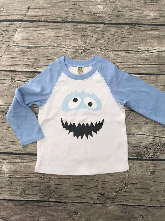 Boys Unisex Abominable Snowman Yeti Baseball T long Sleeve ...