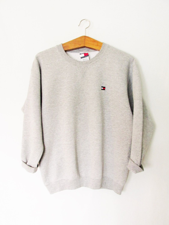 Vintage 1990s Tommy Hilfiger Sweatshirt Tommy Hilfiger Sweatshirt Women Jeans Sweatshirts [ 1500 x 1125 Pixel ]