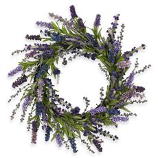 Nearly Natural 20' Lavender Wreath - Bed Bath & Beyond