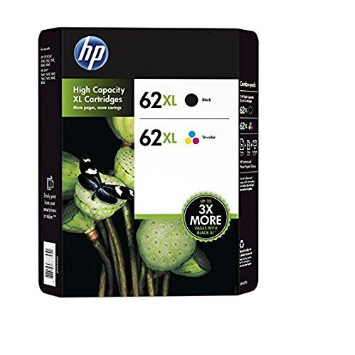 Genuine Hp 62xl Black And Color Inkjet Cartridges In Retail Combo