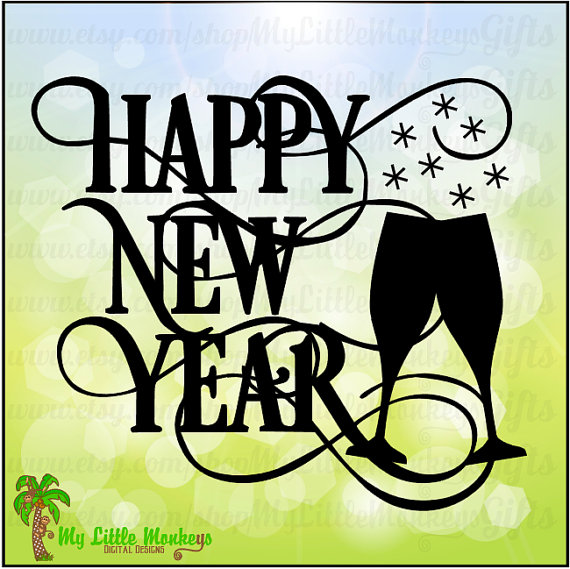 happy new year design digital clipart instant download svg jpeg file