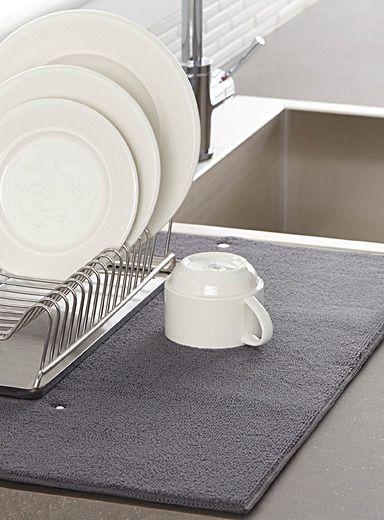 Le tapis de séchage à vaisselle uni simons maison accessoires de cuisine utilitaires et