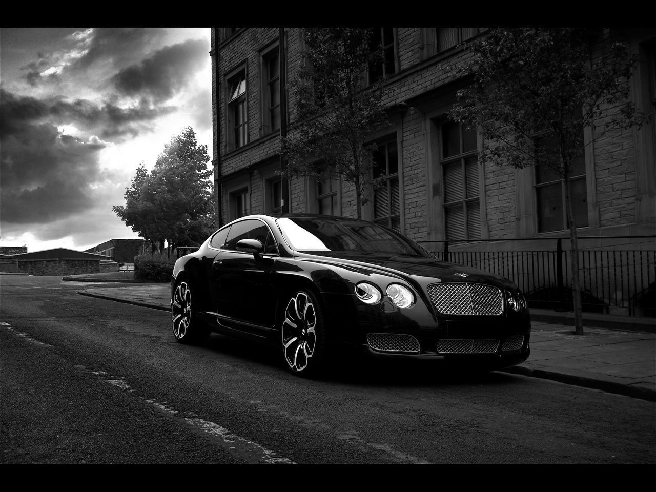 Black car hd wallpaper 1280x960 16281 download wallpaper photo 2 of 2008 project kahn bentley continental gts black edition vanachro Images