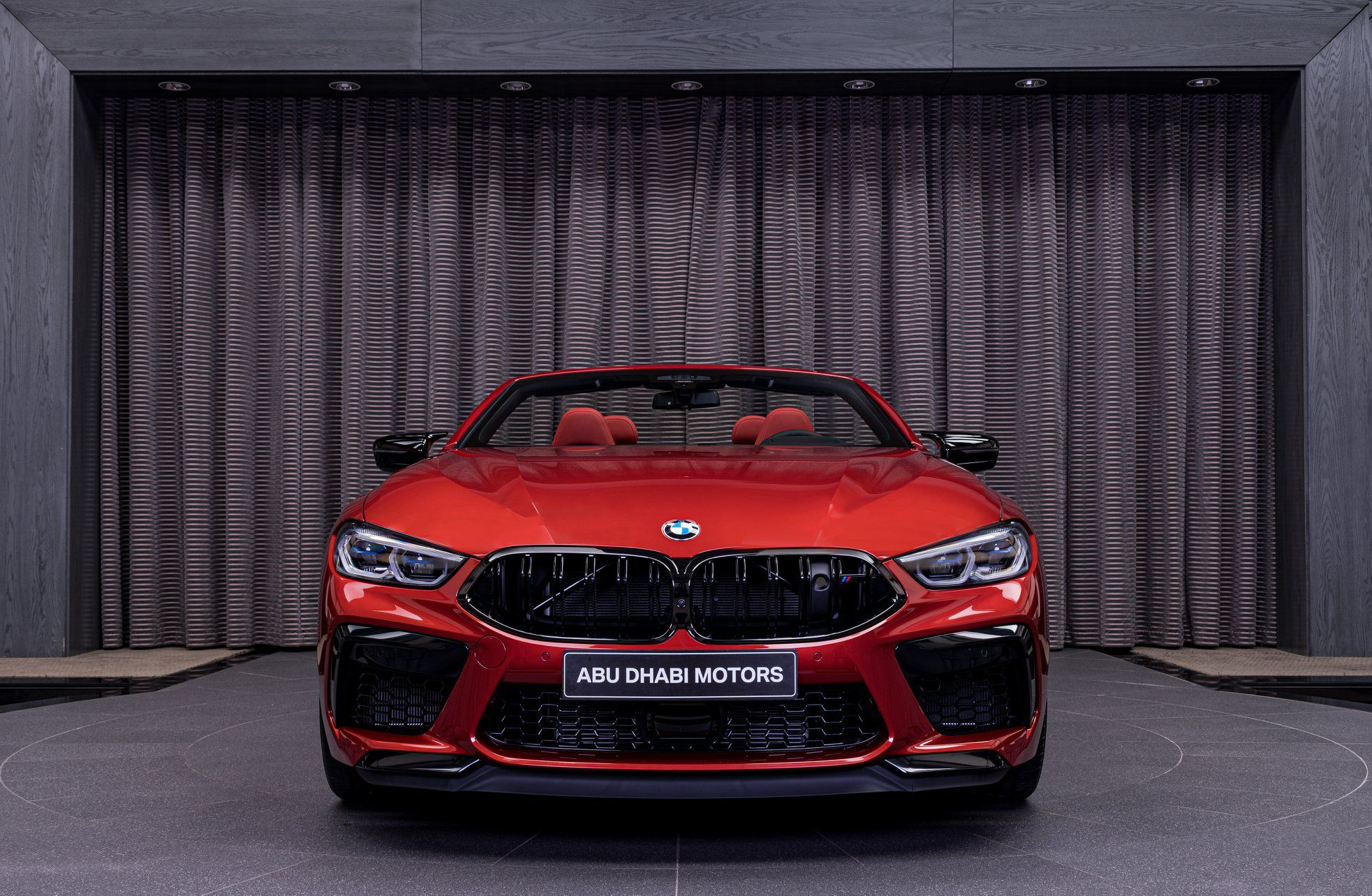 Flamboyant Bmw M8 Competition Convertible In Motegi Red In 2020 Bmw Red Car New Bmw