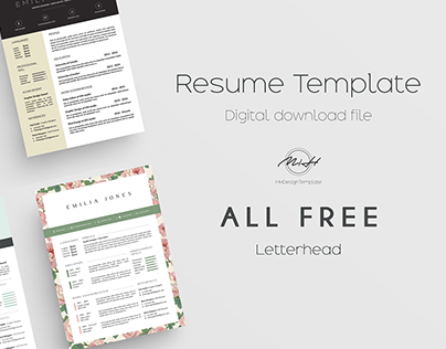Check Out New Work On My Behance Portfolio Resume Template