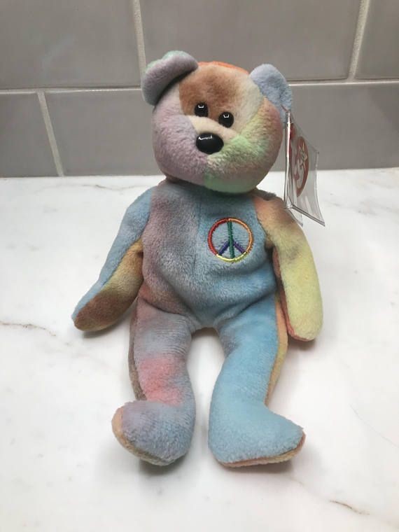 dc9f0f6e605 Very Rare Retired ty Peace Bear Beanie Babies (MINT Condition...MAJOR  Errors(S))...ONE of a kind!