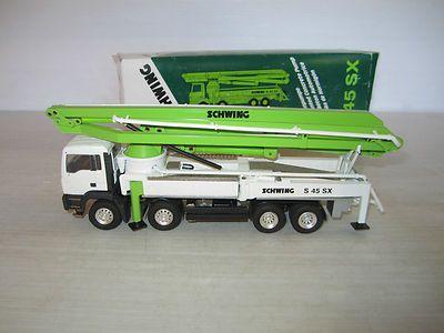 Conrad 1/50 Schwing S 45 SX Concrete Pump Truck MAN Cabover w/box