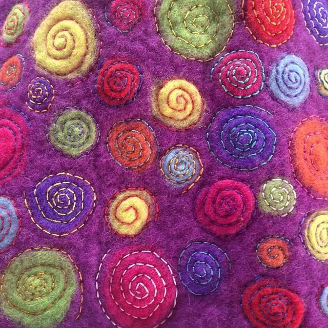 Yay finished another #felt #art #instagram #hippy #rainbow #feltmaking #feltart from #insta... http://ift.tt/1744Ov3 pic.twitter.com/yFouFoCD8O