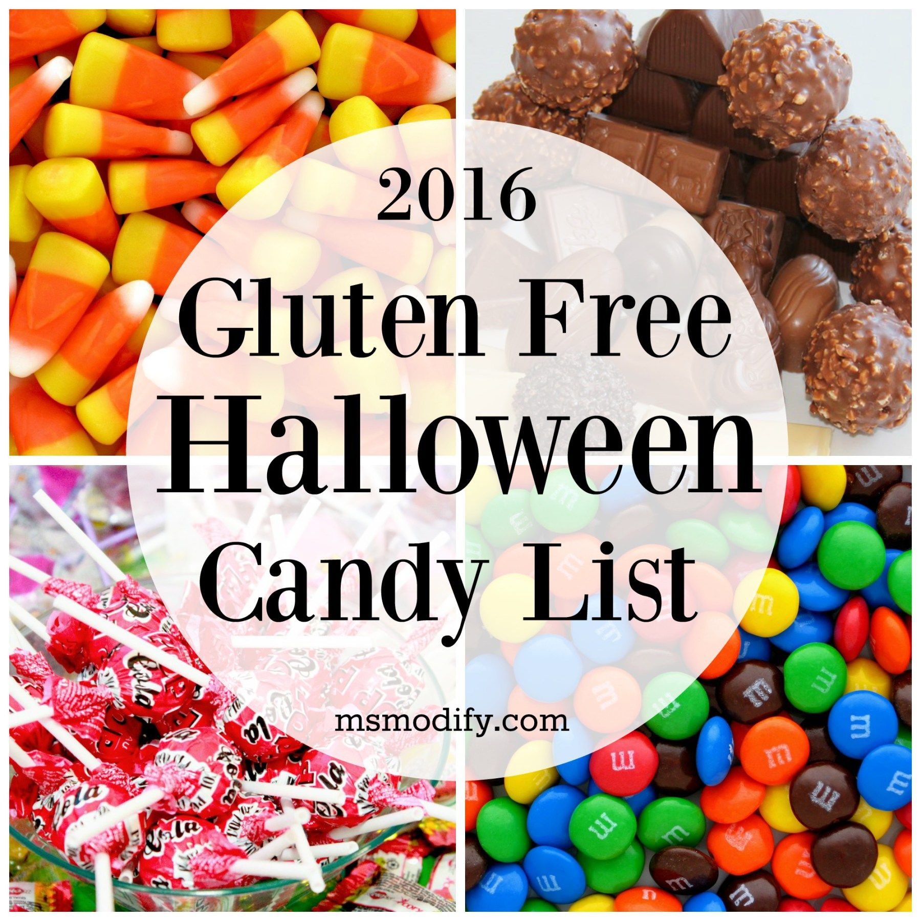 food gluten free halloween candy list