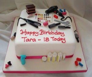 Hairdresser 18th Birthday Cake