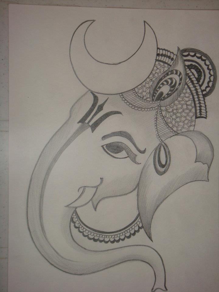 Ganesh Drawing Ganesha Drawing Art Drawings Sketches Simple Drawing Stencils
