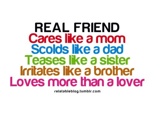 Oh! And I would add that a REAL friend doesn't kiss the boy you have a crush on!!! :-|