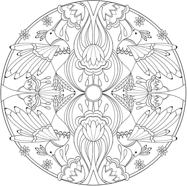 Coloring Page 1 of 6 BIRD MANDALAS by: Jo Taylor a Creative Haven ...