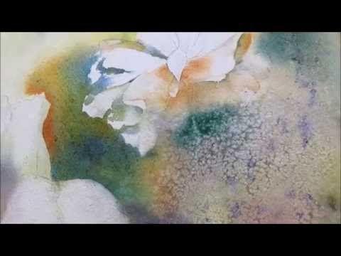Demonstration Aquarelle Dans L Humide Les Roses De Noel