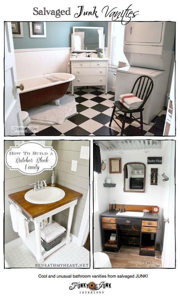 Party Junk 213 salvaged junk bathroom vanities Unusual