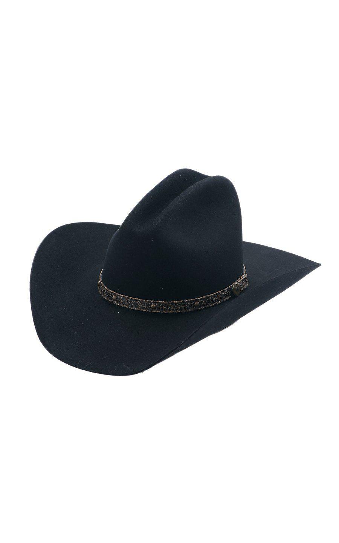 cd64372c3cc45 Resistol® 3X Tattoos Black Felt Cowboy Hat