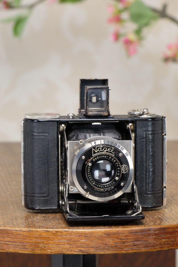 1931 Nagel Vollenda, German folding camera. Freshly Serviced!