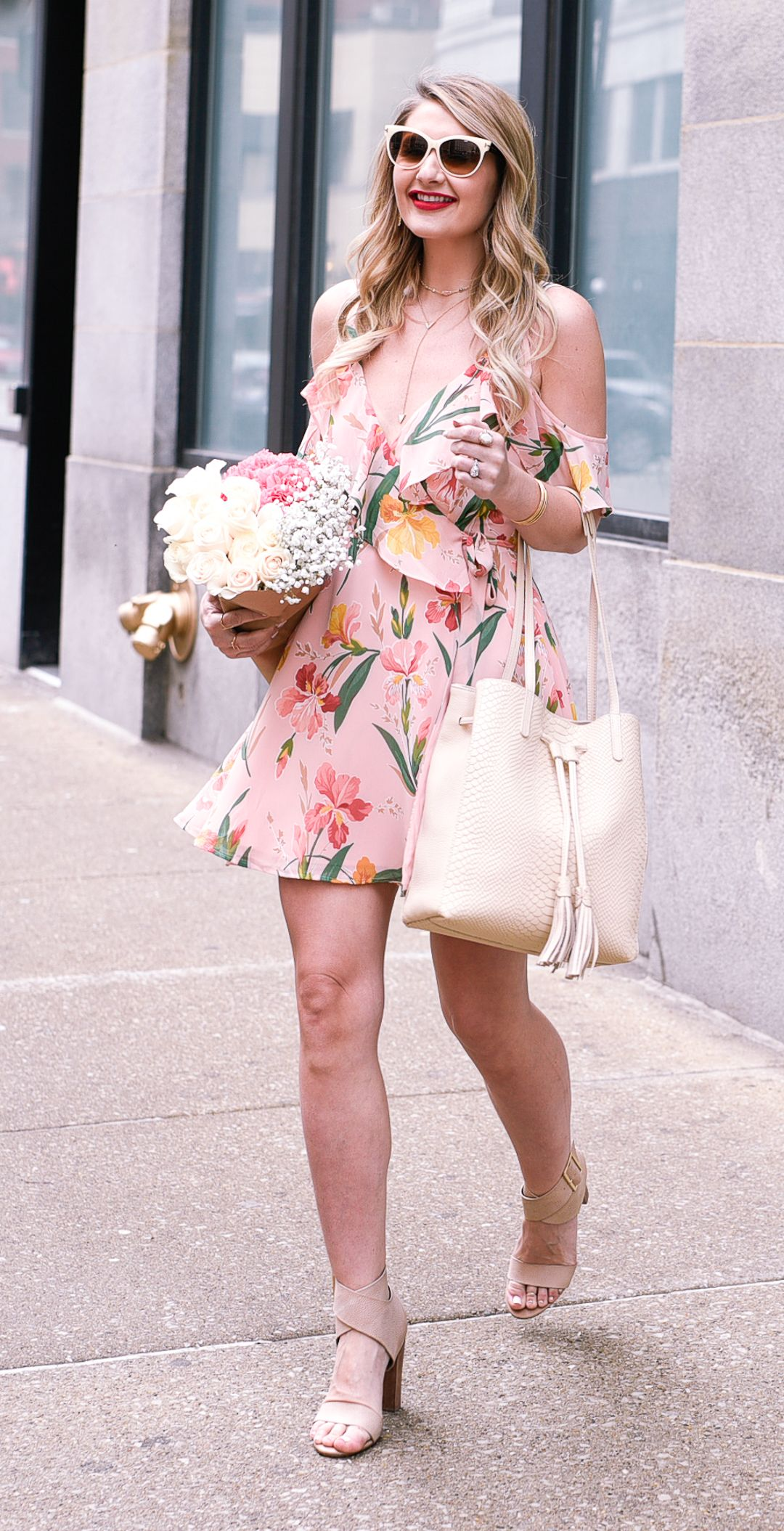 2bcd120affb Pink Floral Wrap Dress | • Fashion•Bloggers•We•Love • | Wrap dress ...