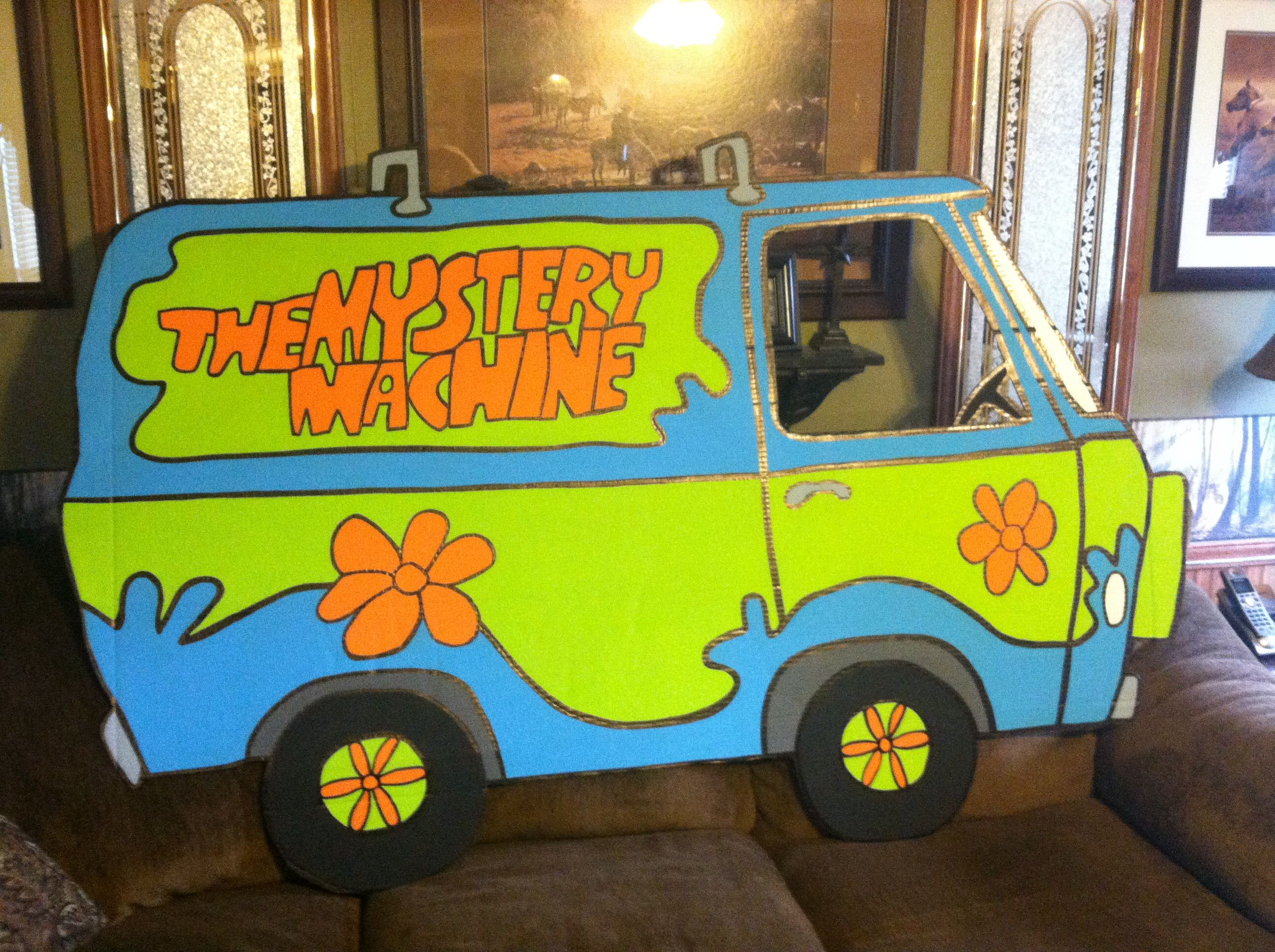Cardboard Mystery Machine I Made Scooby Doo Party