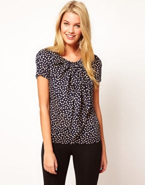 Enlarge Costa Blanca Polka Dot Top With Bow