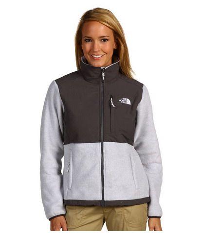 973ea96bb Womens The North Face Denali Fleece Jacket Grey White ...
