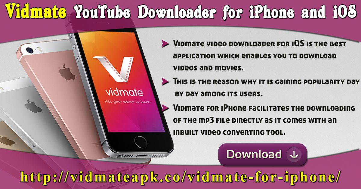 Vidmate video downloader for iOS is the best application